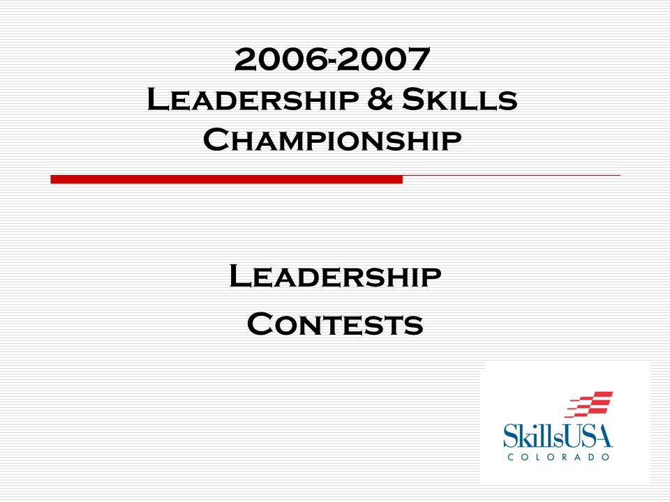 2006-2007 Leadership & Skills Championship Leadership Contests