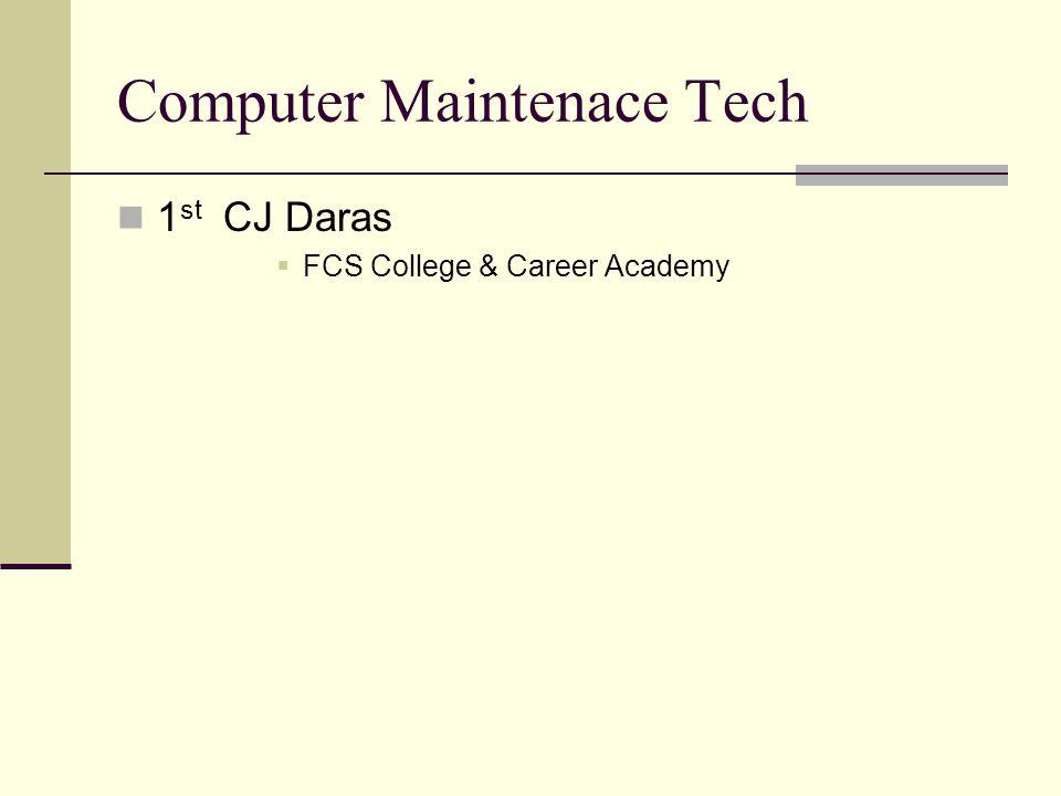 Computer Maintenace Tech 1 st CJ Daras FCS College & Career Academy