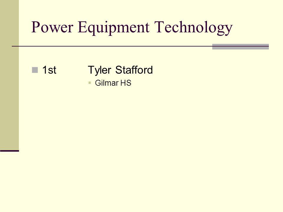 Power Equipment Technology 1stTyler Stafford Gilmar HS