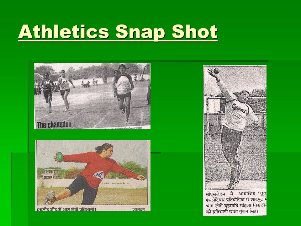Athletics Snap Shot
