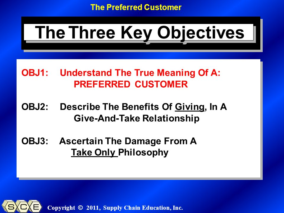 Copyright © 2011, Supply Chain Education, Inc.