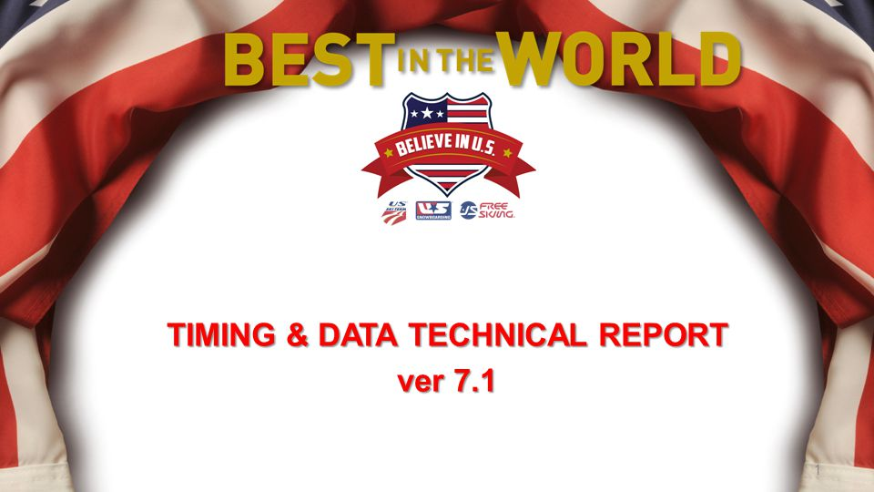 TIMING & DATA TECHNICAL REPORT ver 7.1 1