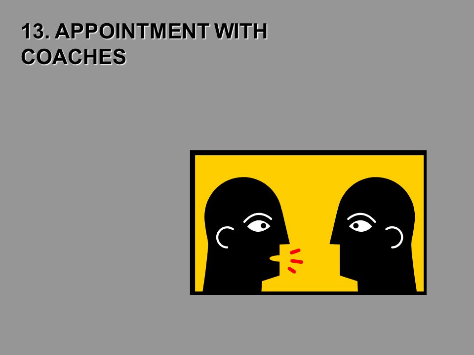 13. APPOINTMENT WITH COACHES