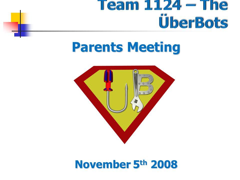 Parents Meeting November 5 th 2008