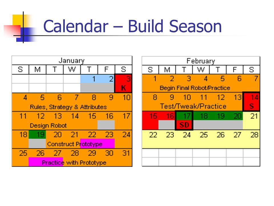 Calendar – Build Season