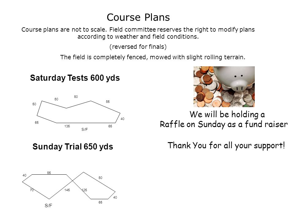 Course Plans Course plans are not to scale.