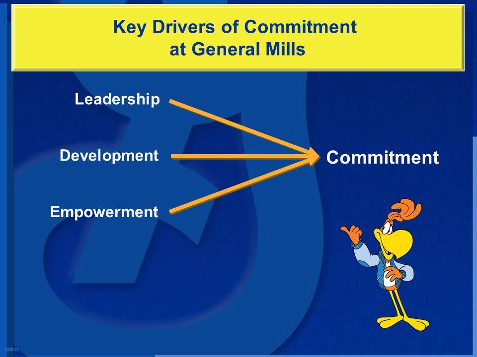 3335-23 Leadership Development Empowerment Commitment Key Drivers of Commitment at General Mills