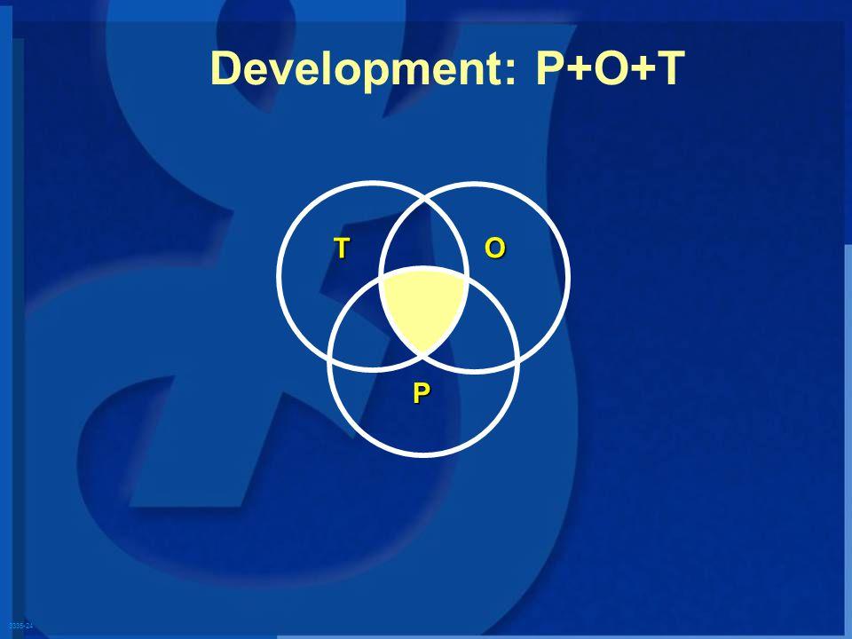 3335-24 T O P Development: P+O+T
