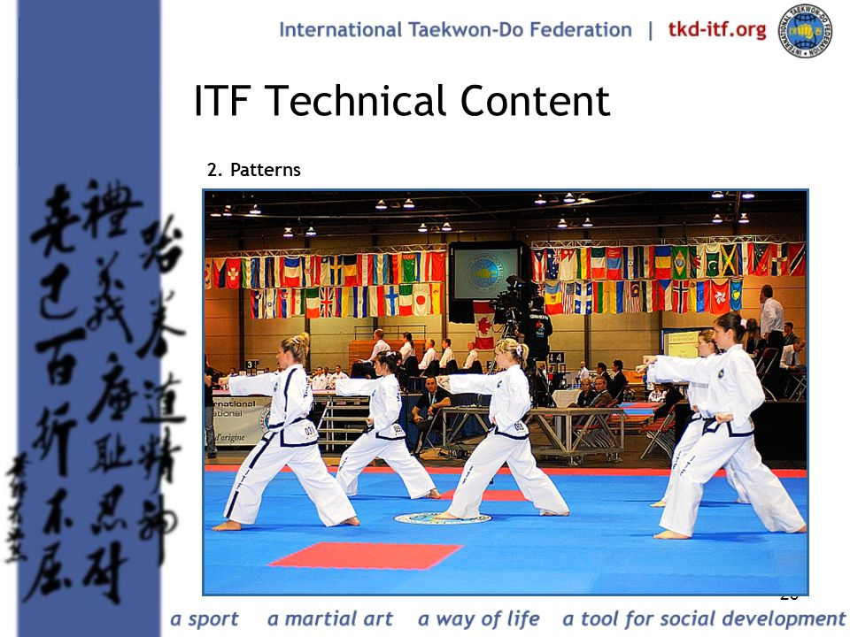 23 ITF Technical Content 2. Patterns