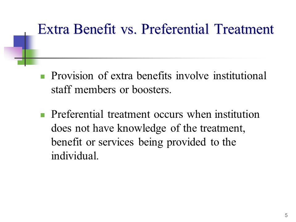 5 Extra Benefit vs.