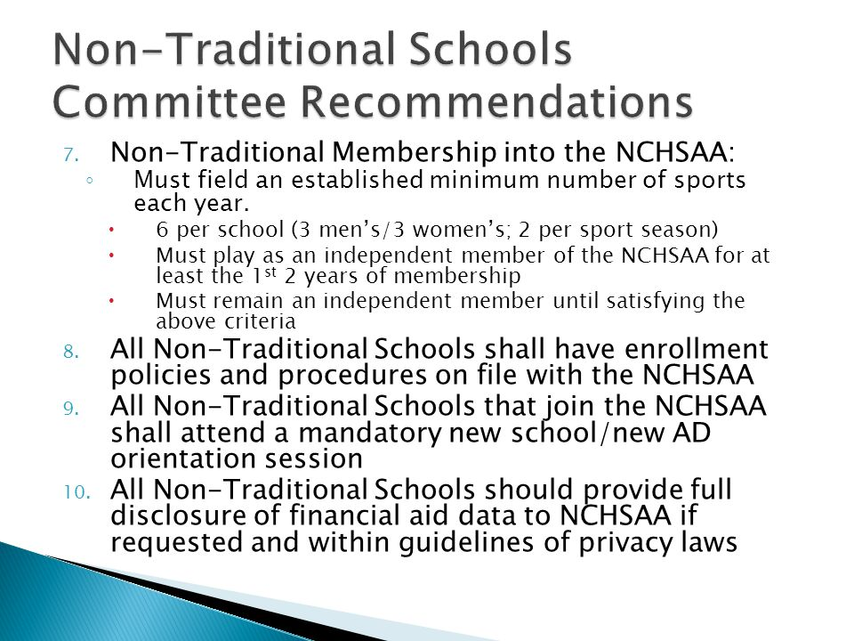 Purpose This standing committee was created to ensure that our NCHSAA policies and procedures, found in the NCHSAA Handbook, remain current and up to date.