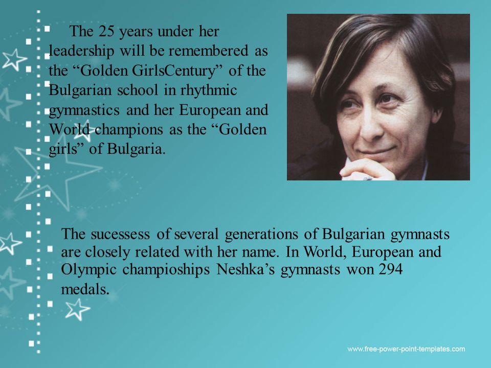 With this starts the phenomenal era of the Bulgarian rhythmic gymnastics.