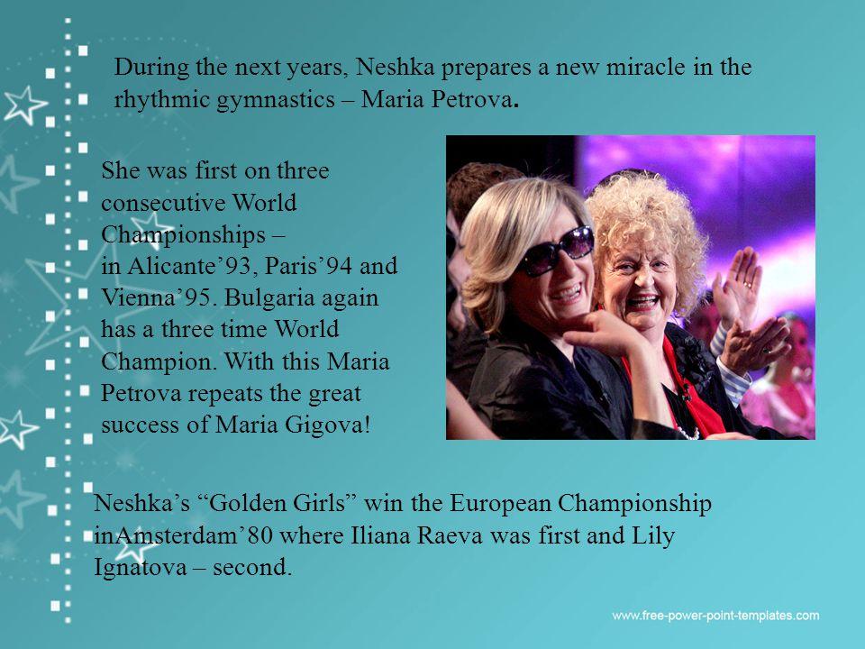 Anelia Ralenkova becomes European Champion in Stavanger82 and again in Vienna84.