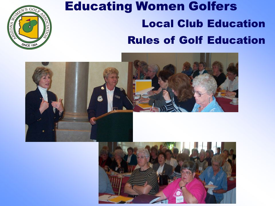 Educating Women Golfers Local Club Education Rules of Golf Education