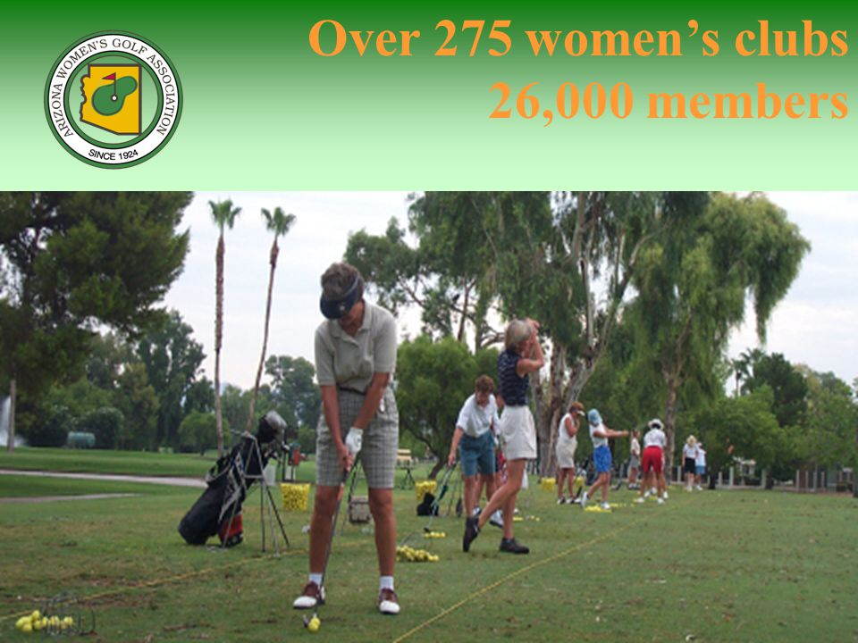 Over 275 womens clubs 26,000 members