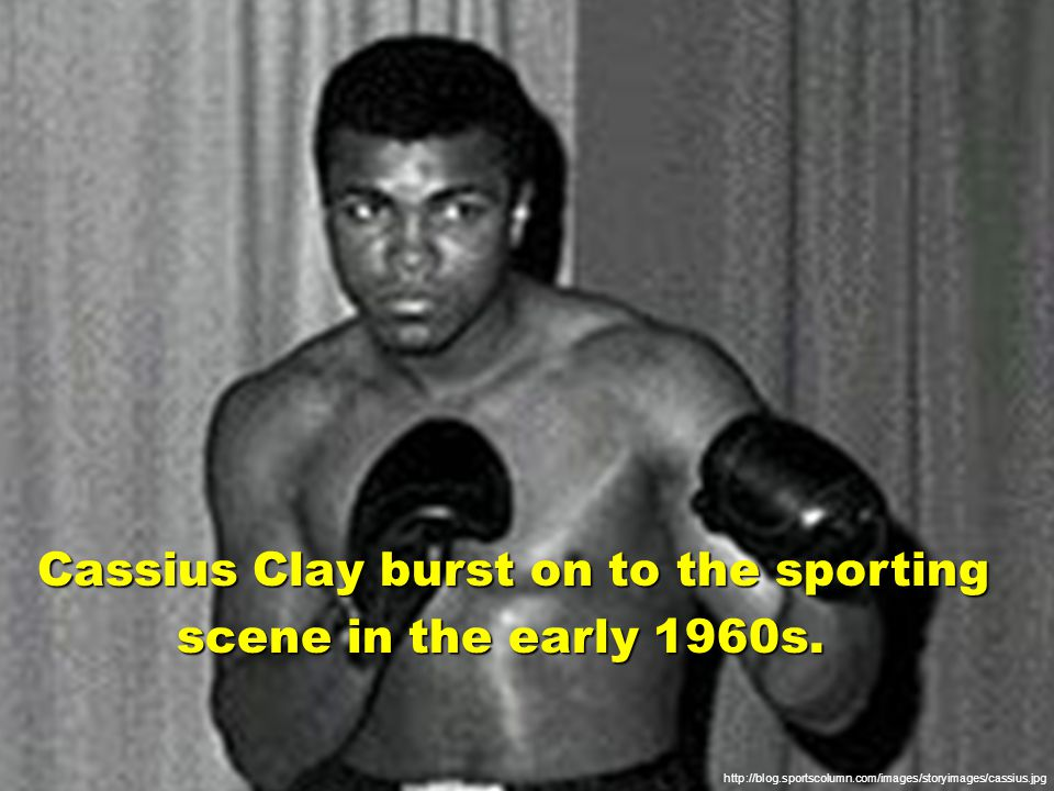 http://www.famousmuslims.com/muhammadali_files/image001.jpg Young, brash, and black, Clay won the Olympic gold medal in boxing as an amateur and quickly gold medal in boxing as an amateur and quickly made a mark as a potent professional made a mark as a potent professional heavyweight boxer.