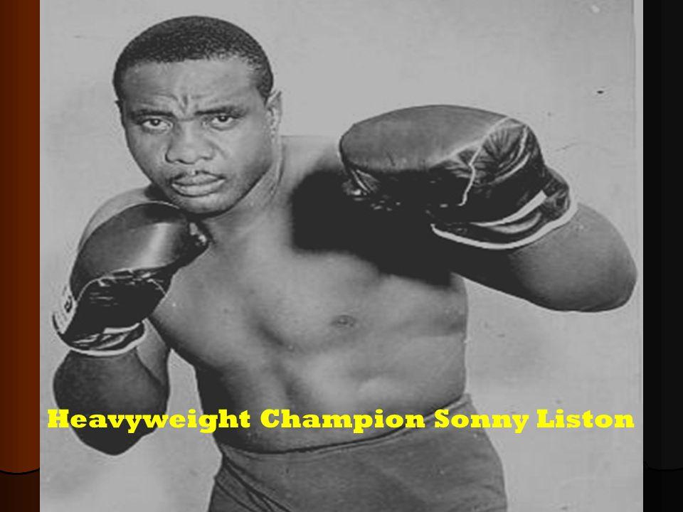Heavyweight Champion Sonny Liston