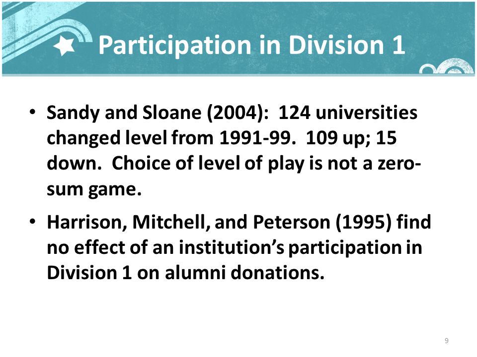 Athletes do not have lower graduation rates; indeed, their graduation rates are slightly higher than non-athletes.