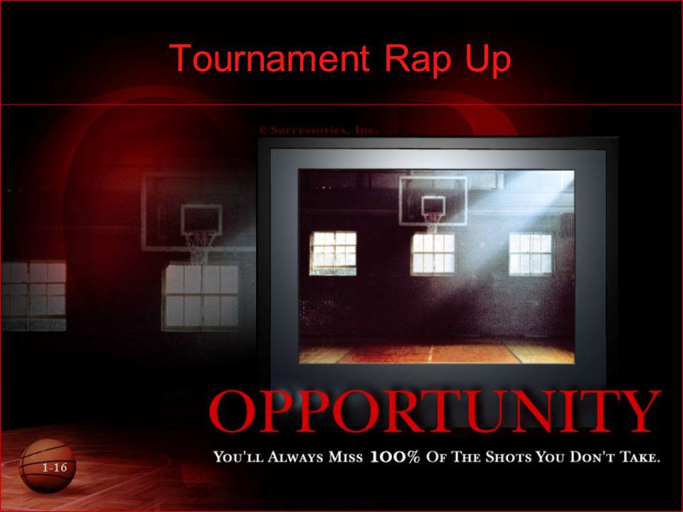 1-16 Tournament Rap Up
