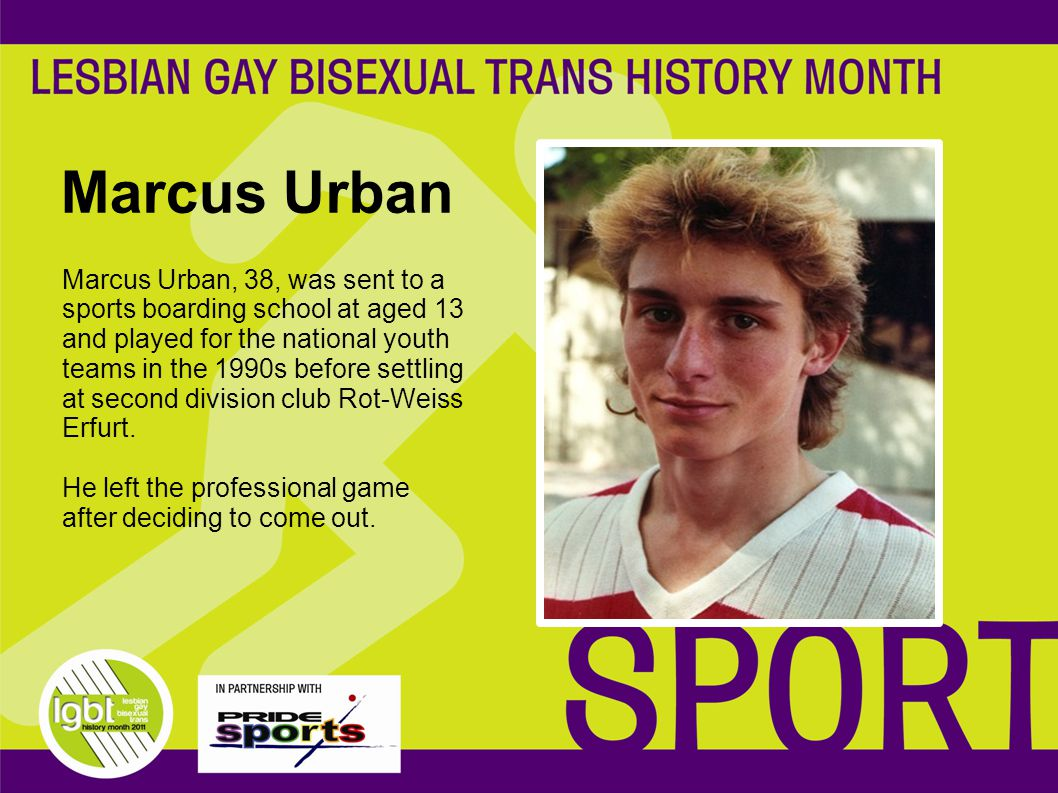 Marcus Urban Marcus Urban, 38, was sent to a sports boarding school at aged 13 and played for the national youth teams in the 1990s before settling at second division club Rot-Weiss Erfurt.