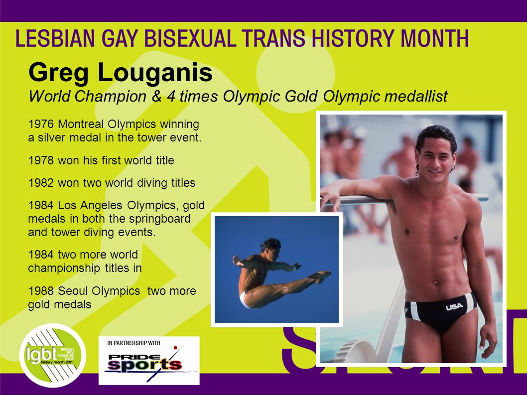 Greg Louganis World Champion & 4 times Olympic Gold Olympic medallist 1976 Montreal Olympics winning a silver medal in the tower event.