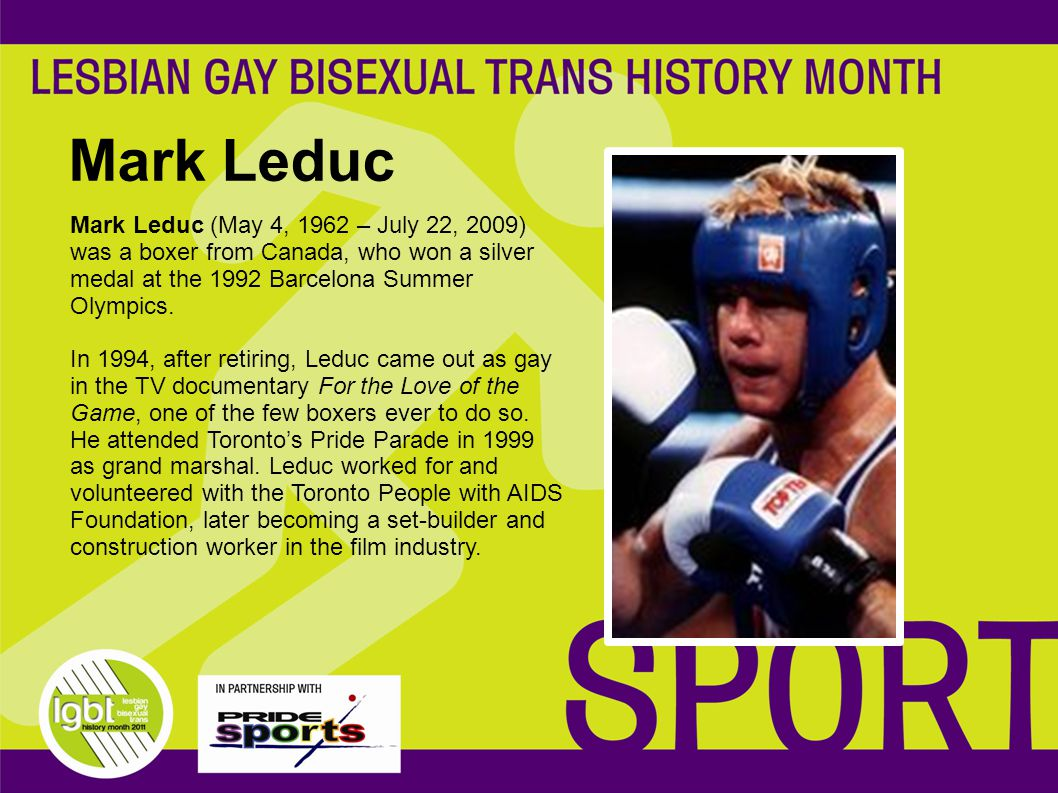 Mark Leduc Mark Leduc (May 4, 1962 – July 22, 2009) was a boxer from Canada, who won a silver medal at the 1992 Barcelona Summer Olympics.