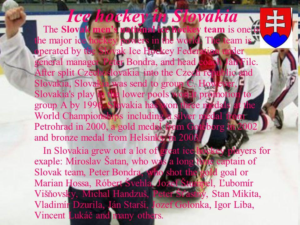 Ice hockey in Slovakia The Slovak men s national ice hockey team is one of the major ice hockey powers in the world.