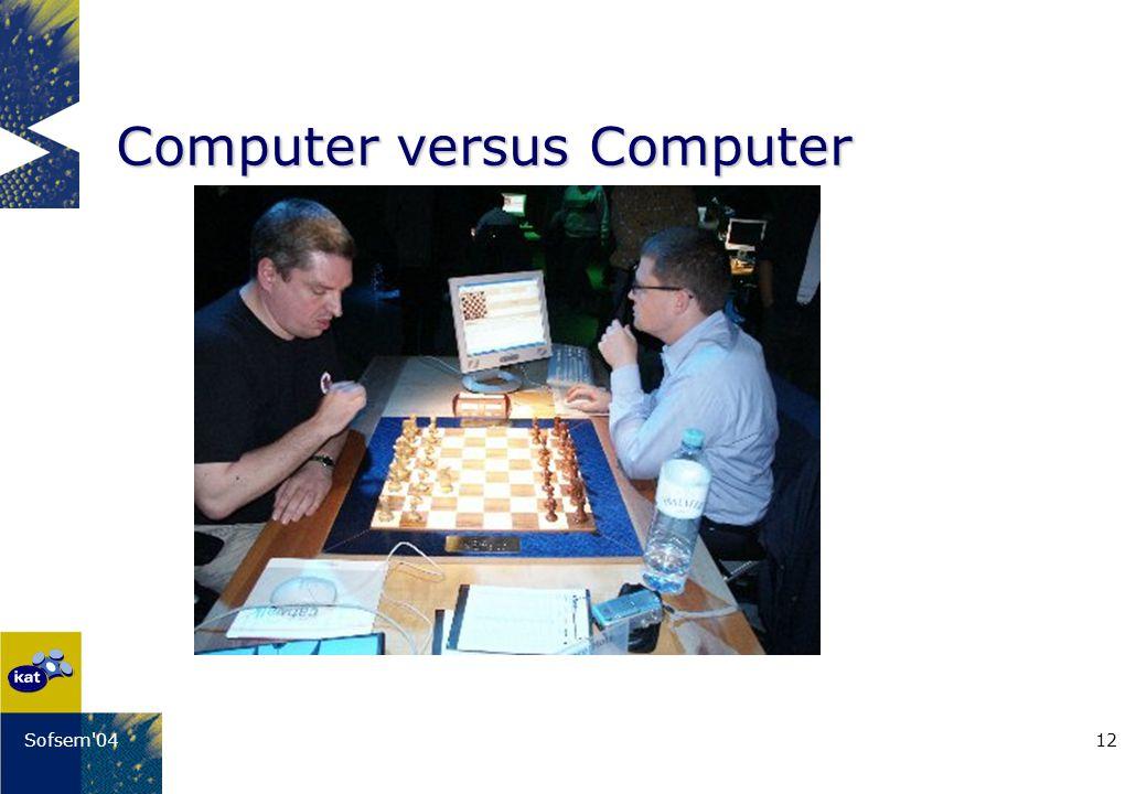 12Sofsem'04 Computer versus Computer