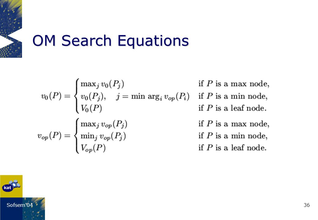 36Sofsem 04 OM Search Equations