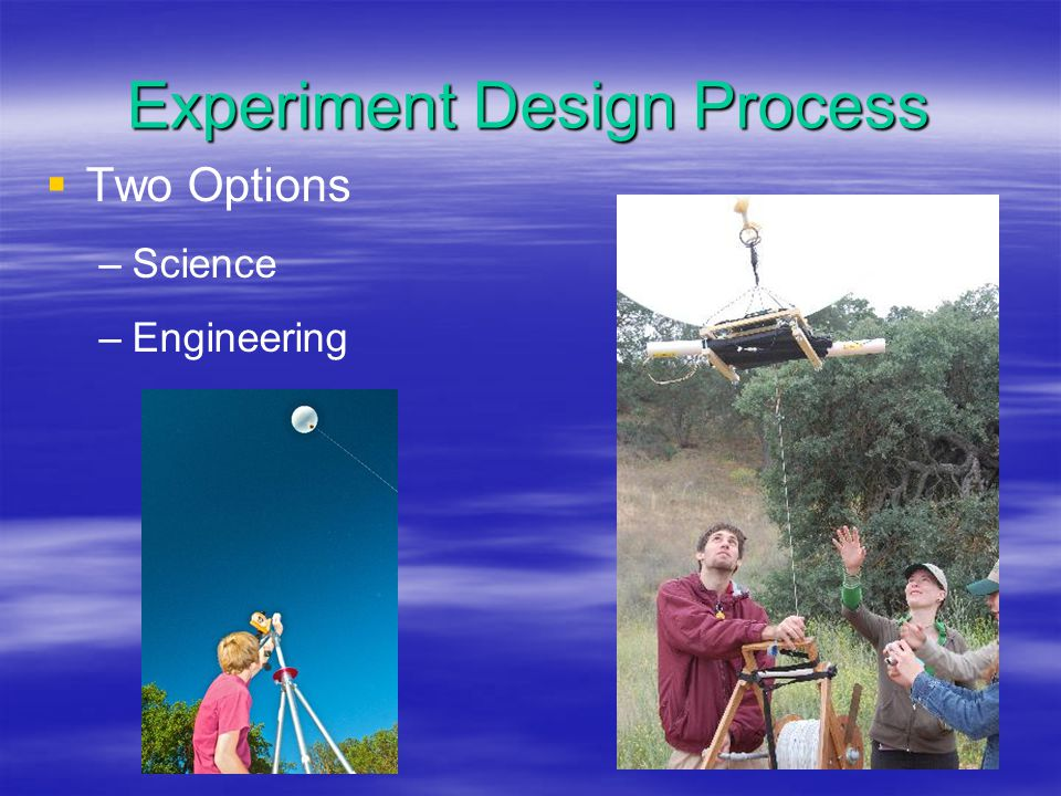 Science Option Choose an interesting and testable question.