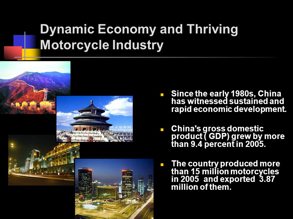 Dynamic Economy and Thriving Motorcycle Industry Since the early 1980s, China has witnessed sustained and rapid economic development.