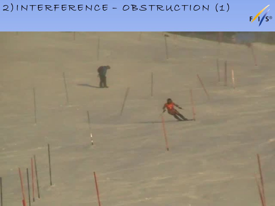 2)INTERFERENCE – OBSTRUCTION (1) Alpine Technical Delegates Update 2012