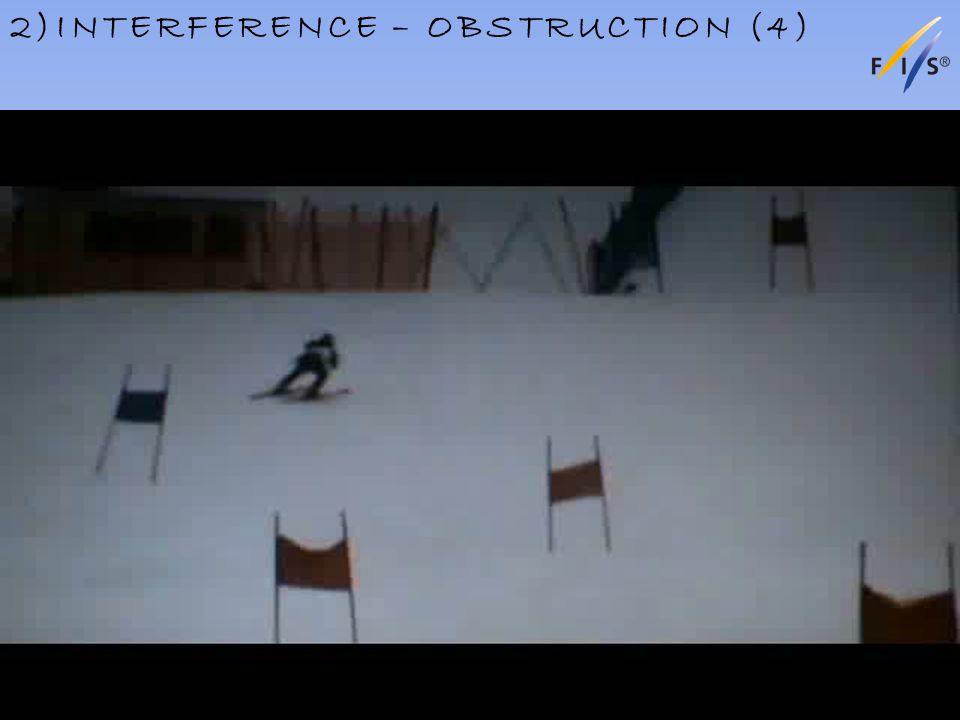 2)INTERFERENCE – OBSTRUCTION (4) Alpine Technical Delegates Update 2012