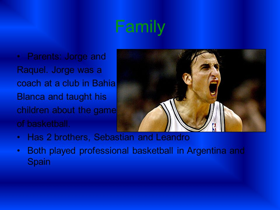 Early Years of Basketball Ginobili made pro debut in in Argentina for the Andino Sport Club team of La Rioja in 1995.