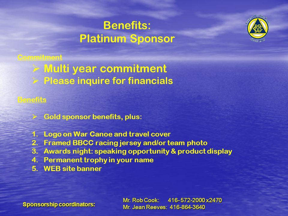 Sponsorship coordinators: Mr. Rob Cook: 416- 572-2000 x2470 Mr.