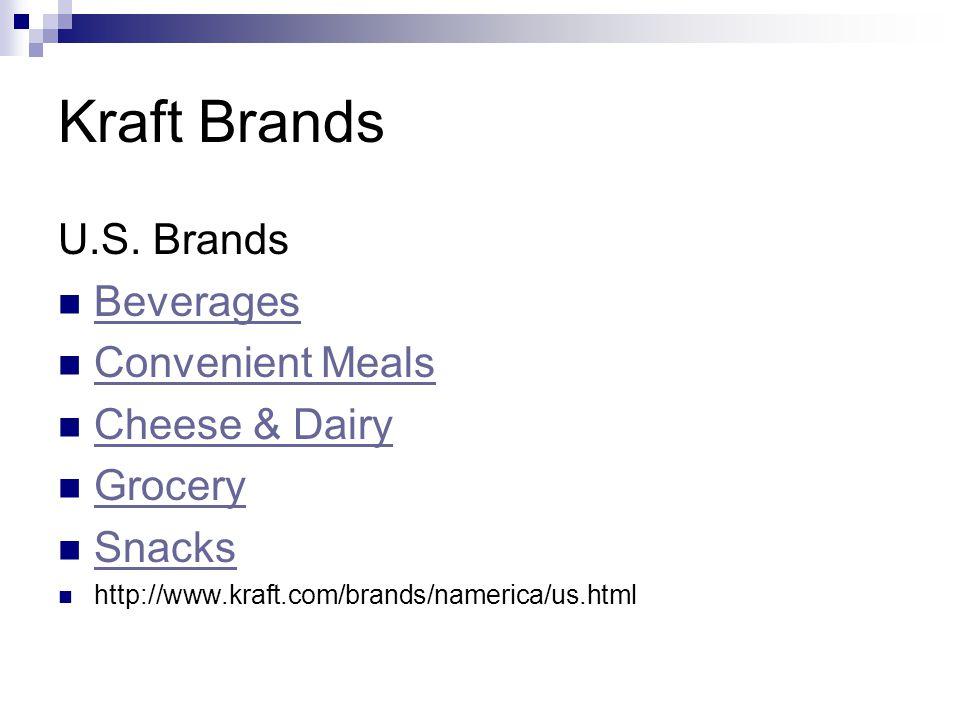 Kraft Brands U.S. Brands Beverages Convenient Meals Cheese & Dairy Grocery Snacks http://www.kraft.com/brands/namerica/us.html