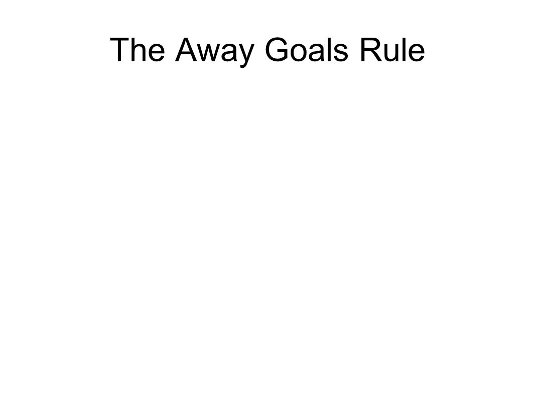 The Away Goals Rule