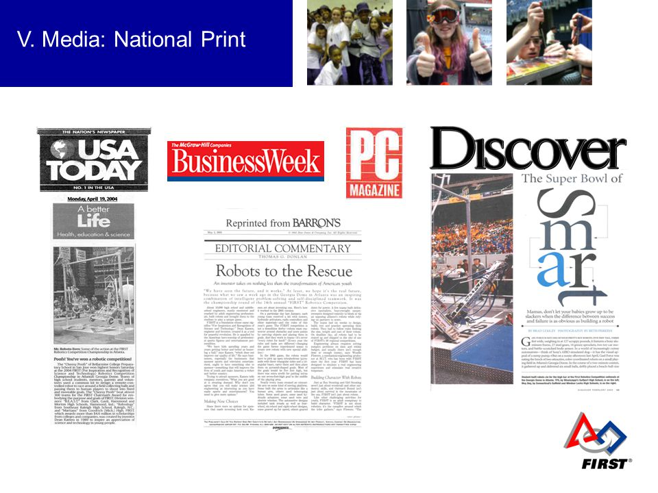 V. Media: National Print