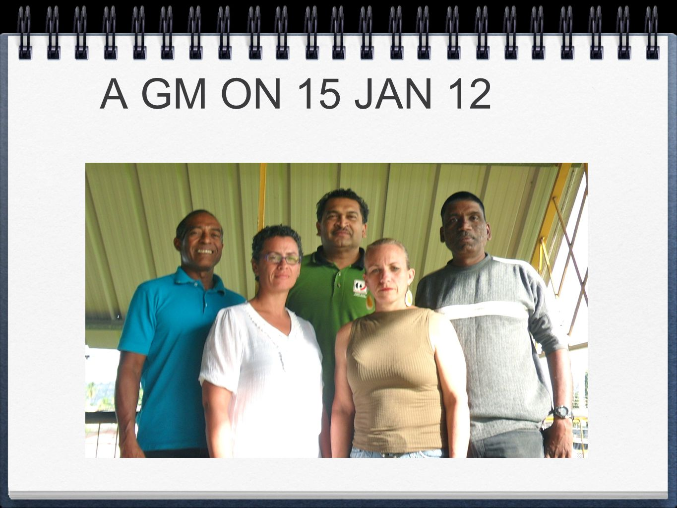 A GM ON 15 JAN 12