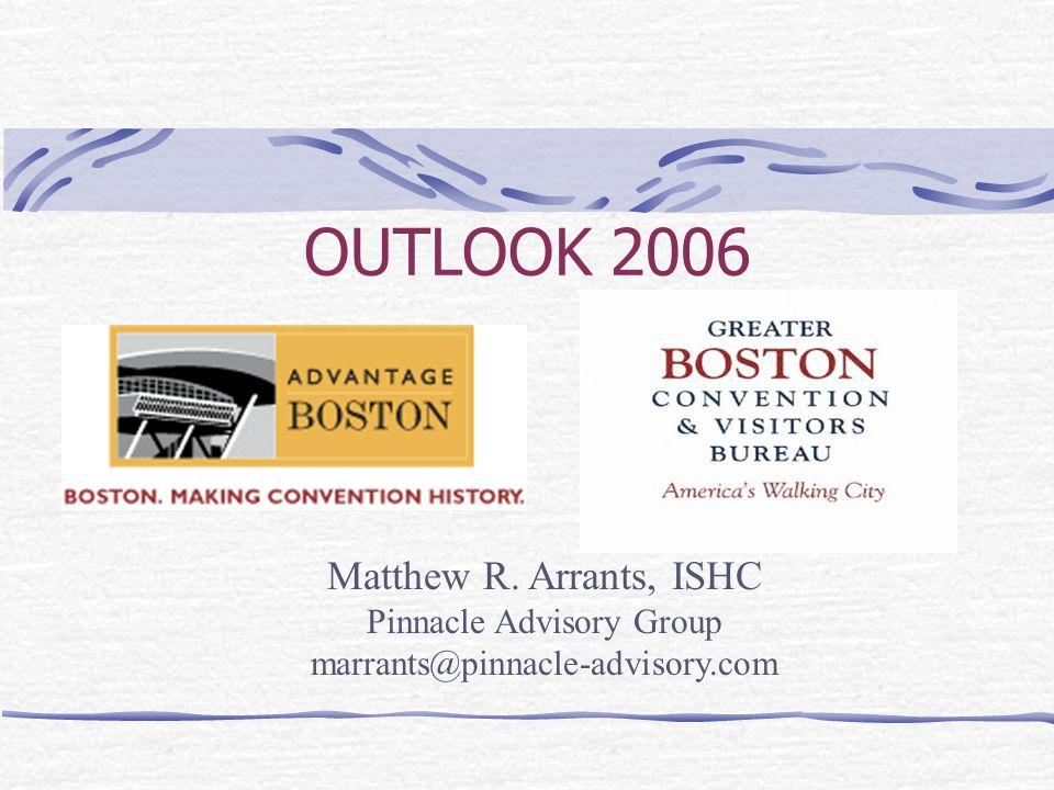 OUTLOOK 2006 Matthew R. Arrants, ISHC Pinnacle Advisory Group marrants@pinnacle-advisory.com