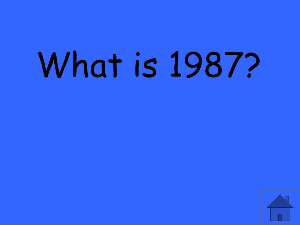 What is 1987?