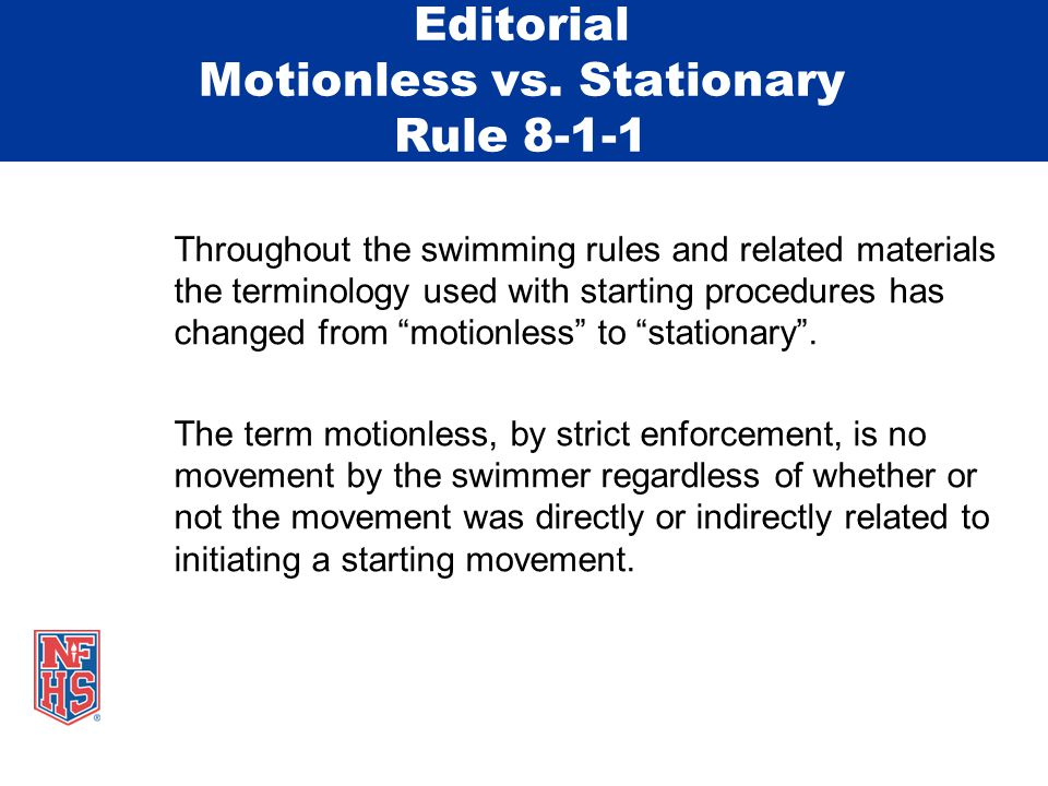 Editorial Changes 3-3-1Removes reference to visibility of the number as a number is not required in swimming/diving.