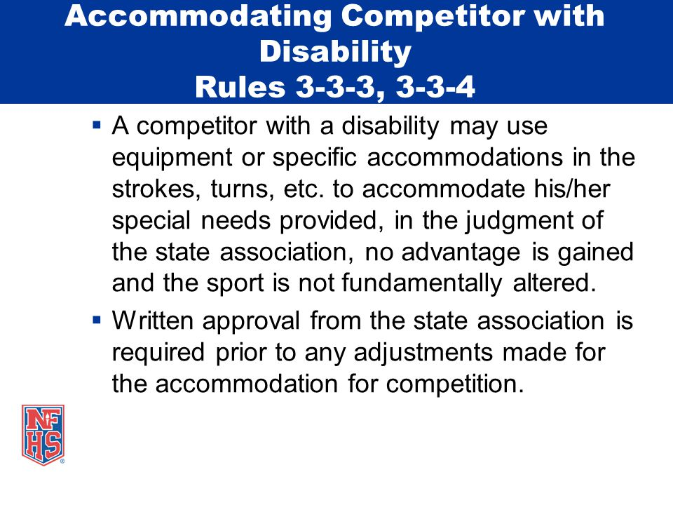 Referee/Starter Rule 4-1-3 Note Referee/Starter The term Referee/Starter is found throughout the NFHS Swimming and Diving Rules Book.