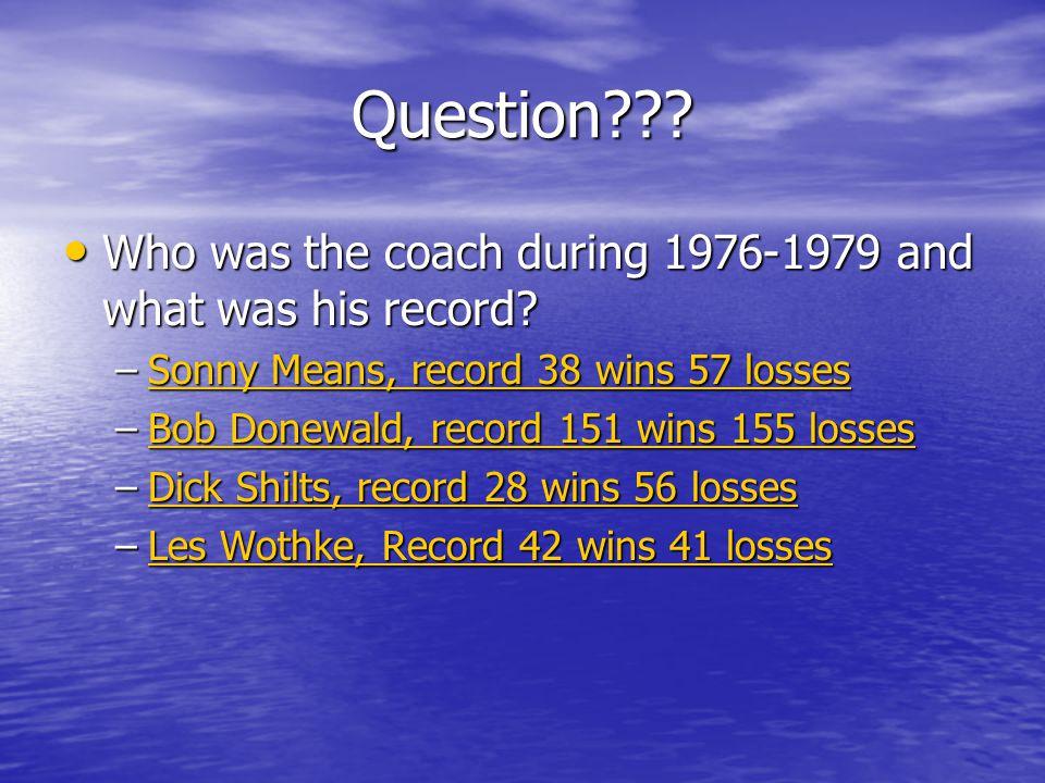 Coach Steve Hawkins 2004 season is his first at Western.