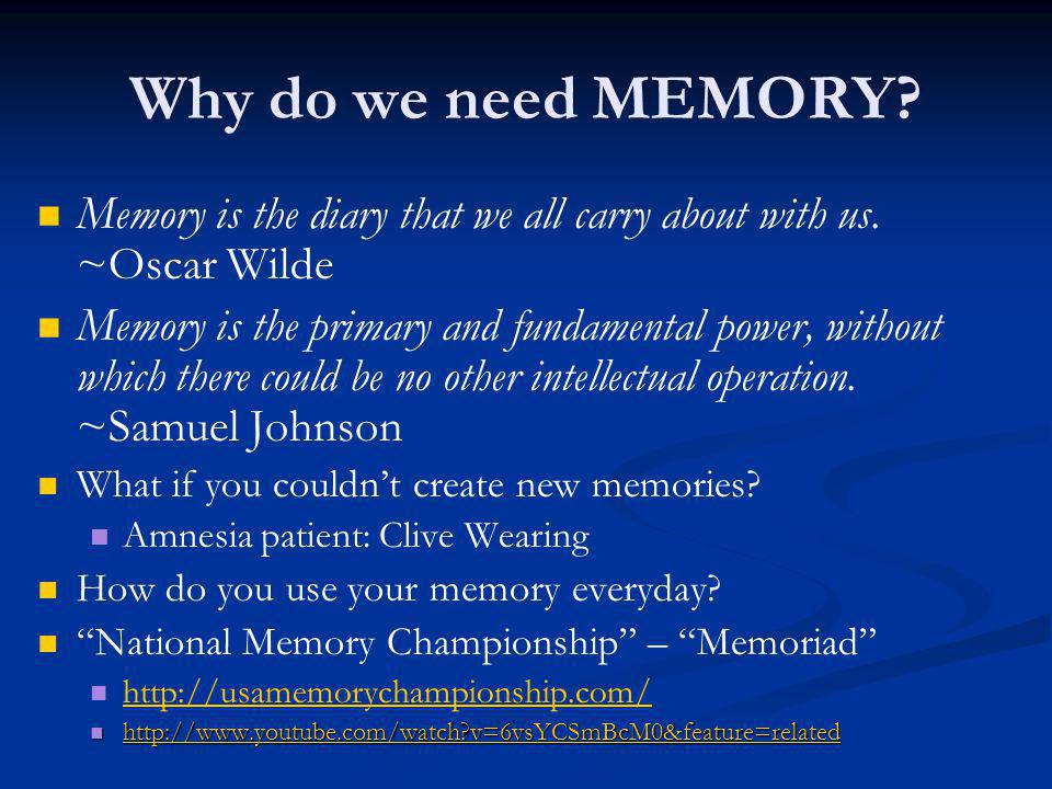 How can I improve my memory.