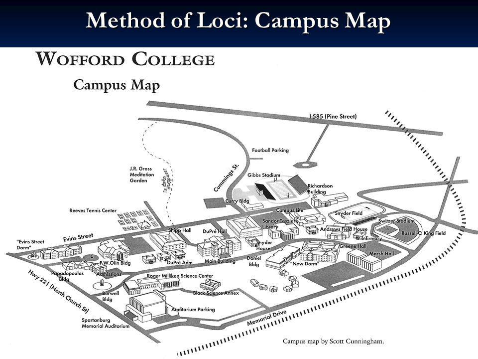 Method of Loci: Campus Map