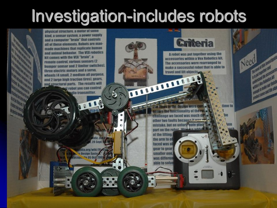 Investigation-includes robots