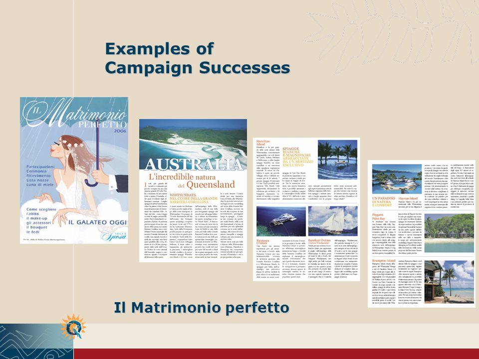 Il Matrimonio perfetto Examples of Campaign Successes