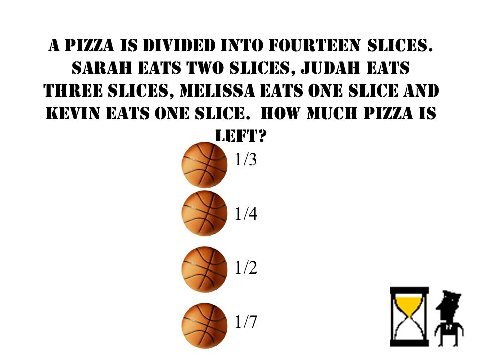 A pizza is divided into fourteen slices.
