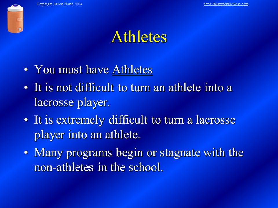 Keep It Simple Lacrosse is not rocket science.Lacrosse is not rocket science.